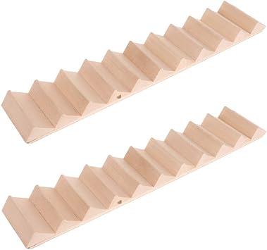 Amazon.es: Toygogo 2 Piezas 1:12 Miniaturas De Casa De Muñecas Escalera De Madera Pasos Accesorios De Casa De Muñecas: Juguetes y juegos