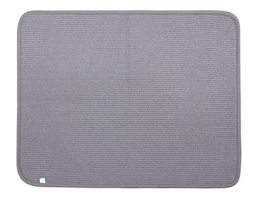 DRI Kitchen Dish Drying Mat Extra Large in Grey