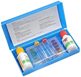 Pool Central 3-Way Swimming Pool with Case-Tests Ph Chlorine and Bromine Levels Kit