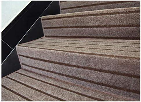 ZGYZ 7 PCS Alfombra de Escalera Antideslizantes Autoadhesivas Tapetes Alfombra moquetas peldaños Esteras Protectoras, fáciles de Limpiar,B,120 * 24 * 3: Amazon.es: Hogar