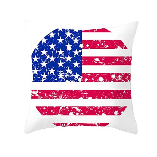 - Gray Patriotic American Flag July 4Th Inspired Throw Pillow Covers,Stars and Stripes Vintage USA Flag Cotton Linen Pillow Cases Cushion Covers Square King Size Sleep Mat
