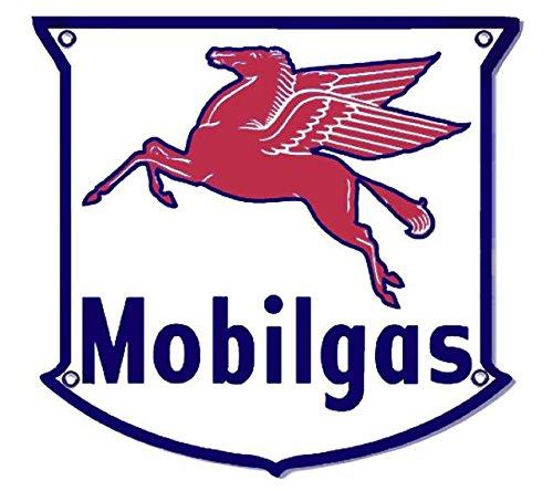 Five Point Mobilgas Mobil Pegasus Oil Metal Sign