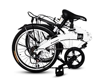 Amazon.com : EXCIDER, Folding Bike, Sunrun Gear 7 level 20 Inch L2 Carpe Diem Classic (Black) : Sports & Outdoors