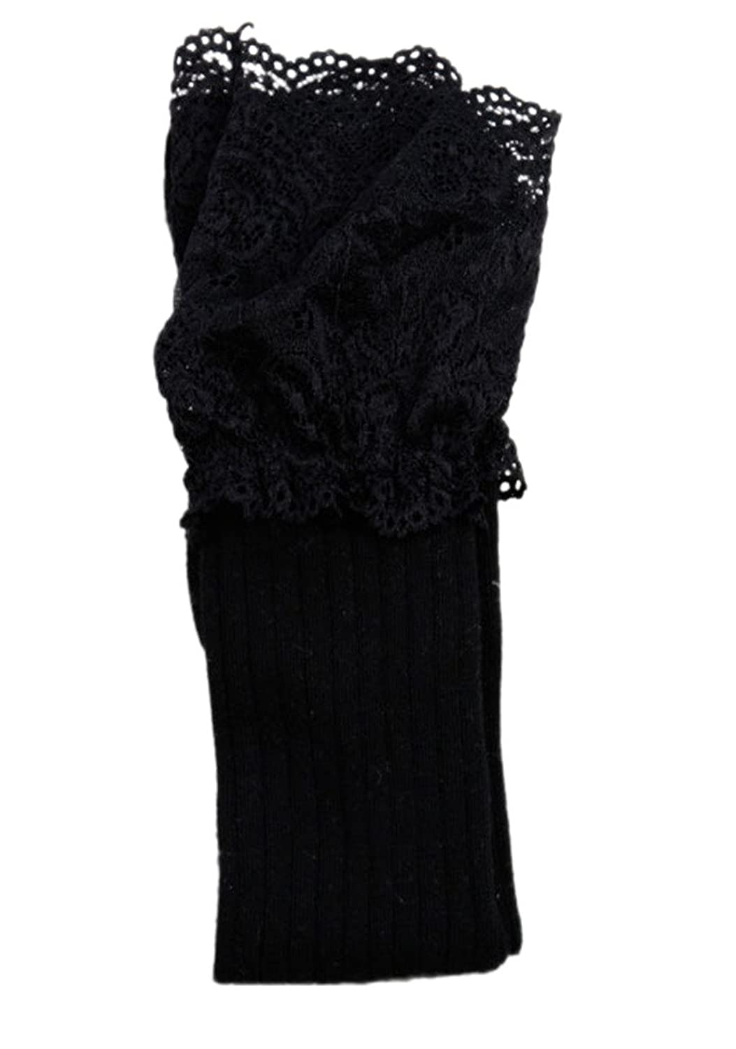 Toyobuy Women Lace Over the Knee Thigh High Tube Socks Boots Stockings