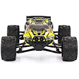 GPTOYS Hobby Grade RC Car LUCTAN S912, All Terrain 33+MPH 1/12 Scale Off Road Full Proportional Radio Controlled Electric Semi-Waterproof Monster 2WD Monster Truggy - Best Gift for Kids (Yellow)