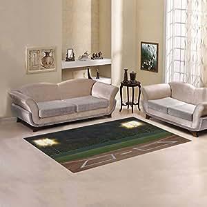 D-Story Floor Decor Baseball Stadium Area Rug Carpet Floor Rug 5'x3'3'' For Living Room Bedroom