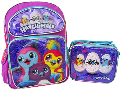 """Price comparison product image Hatchimals 16"""" Backpack Lunch Box Set"""