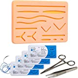 Suture Training Pad Suture Practice Kit for Medical Dental Vet Training Students, Including Large Silicone Pad,Tool Kit with Needles