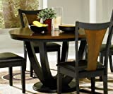 Dining Table with Butterfly Pattern Top in Two Tone Finish