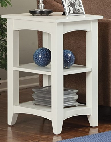Alaterre ASCA02IV Shaker Cottage 2 Shelf End Table, Ivory by Alaterre (Image #2)