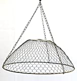 Gray Zinc Chicken Wire Lamp Shade