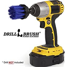 Long Blue Bristle 2 Inch Diameter Medium Stiffness Drill Accessory Brush Attachment for Cordless Drills and Impact Drivers - Used to Clean Plastics, Pool Lining, Hot Tubs, and Boat Hulls by Drillbrush