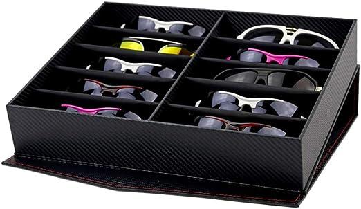 Rawall-bo Caja de Almacenamiento para Gafas Estuche de exhibición de Gafas de Sol Estuche de Almacenamiento de exhibición de Gafas de Sol Organizador de Gafas de Sol con Soporte de pantall: Amazon.es: