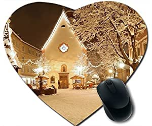 Christmas Building Mouse Pad Desktop Mousepad Laptop Mousepads Comfortable Office Of Mouse Pad Mat Cute Gaming Mouse Pad by runtopwell
