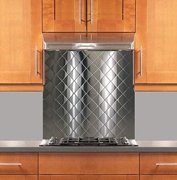 Fine Quilted Stainless Steel Backsplash Various Sizes Hemmed Edge 30 X 36 Download Free Architecture Designs Intelgarnamadebymaigaardcom