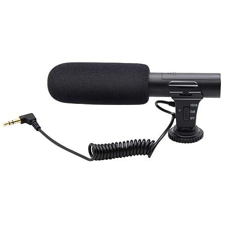 LNIMIKIY - Micrófono DV para cámara réflex Digital (portátil, Mic ...