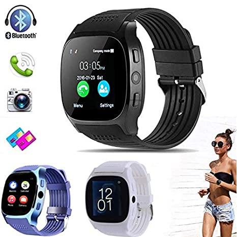 Amazon.com: GeTuo T8M Smart Watch Bluetooth Fitness Tracker ...
