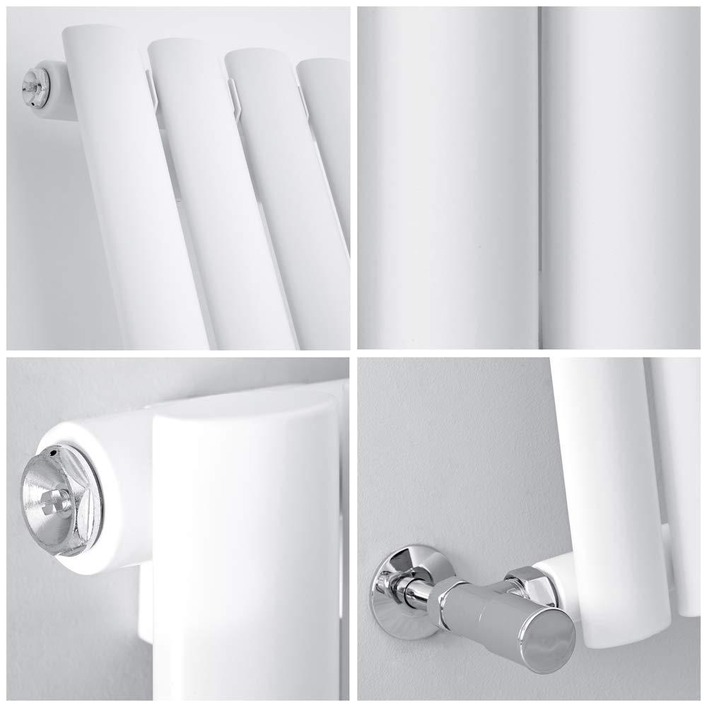 841W 1600 x 354mm Blanco Radiador de Dise/ño Revive Vertical