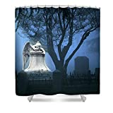 Pixels Shower Curtain (74'' x 71'') ''Broken Angel ''
