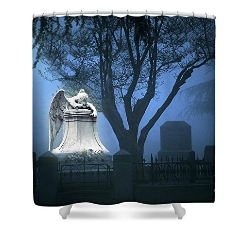 Pixels Shower Curtain (74'' x 71'') ''Broken Angel '' by Pixels