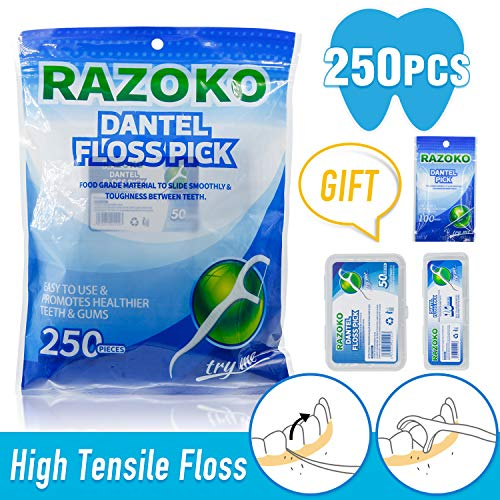 (Dental Floss Picks High Toughness Toothpicks Sticks 250PCS with Portable Case and Dental Picks Perfect for Family,Hotel,Travel)