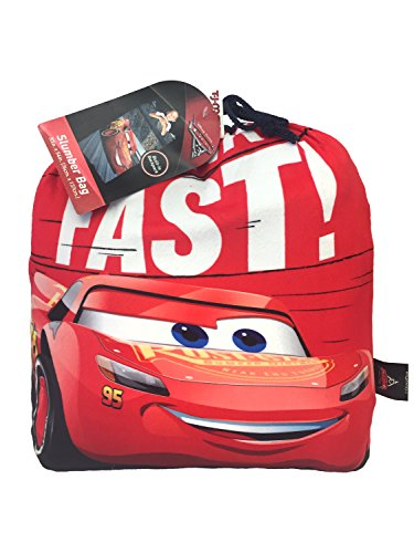 "Jay Franco Disney/Pixar Cars 2-Piece Plush Slumber Bag and Backpack Set with Lightning McQueen, 30"" x 54"""