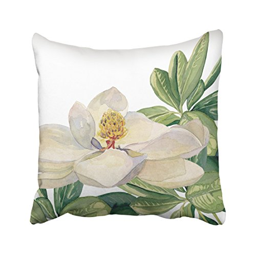 Pakaku Decorativepillows Case Throw Pillows Covers for Couch/Bed 18 x 18 inch,Trendy Magnolia Floral Art Decorative Home Sofa Cushion Cover Pillowcase Gift Bed Car Living Home