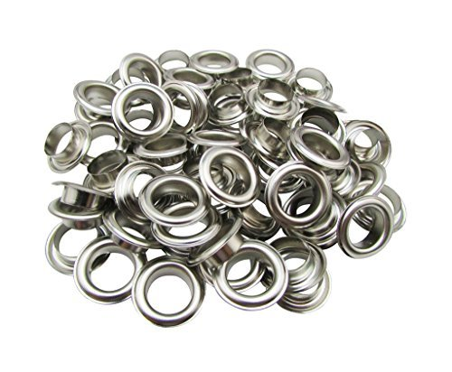 500 x 14mm Silver Metal Eyelets with Washers for Banners Grommets Leather Craft