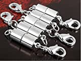 Since 10PCS Magic Magnetic Clever Clasp Built-In Safety Magnetic Lock with Lobster Clasp for Jewelry Necklace Bracelet (Silver Color) SIC02