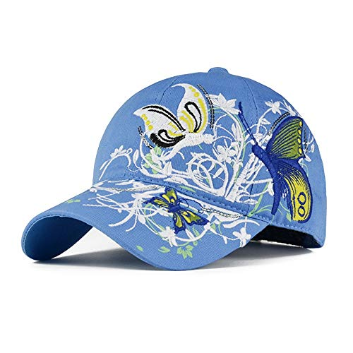 LYQZ Hat Female Summer Cap Korean Embroidery Wild Fashion Tide Butterfly Spring and Autumn Sun Protection Sunscreen Baseball Cap (Color : C)