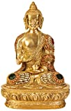 AapnoCraft Rare Thai Abhaya Buddha Sculpture Meenakari Buddha Blessing Statue/Figurine Coral Stone Work