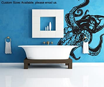Amazoncom Stickerbrand Animals Vinyl Wall Art Giant Octopus - How do you put up vinyl wall decals