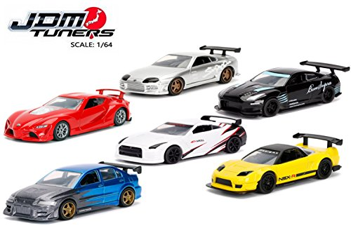 Jada 1:64 Metal JDM Tuners Wave 1A Assortment 6pc Diecast Car Set IN BLISTER PACKS (Mitsubishi Lancer Evo 2 Fast 2 Furious)