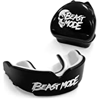 Beast Mode Gum Shield | Mouth guard and case - For contact sports, Rugby, Boxing, Hockey, Kickboxing, Martial Arts, Lacrosse, Karate, MMA, Mouldable Gumshield - Adult/Kids