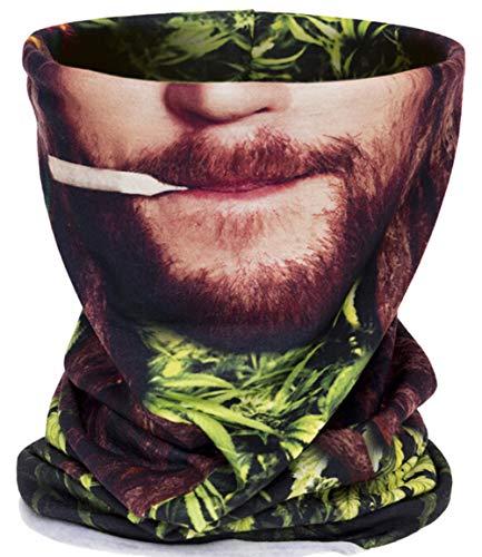 Men Women Face Shield Mask Seamless Bandana Biker Riding Outdoor MicroFiber Tube Neck Warmer (Human Face) by Guyay (Image #1)
