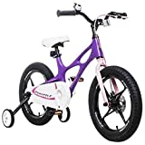 Bicyclehx High-Grade Professional Magnesium Alloy Children's Bicycle Kid Bike In 14/16/18 Inch Safety Quality Bicycle for Boy Girl (Color : Purple, Size : 14 inch)