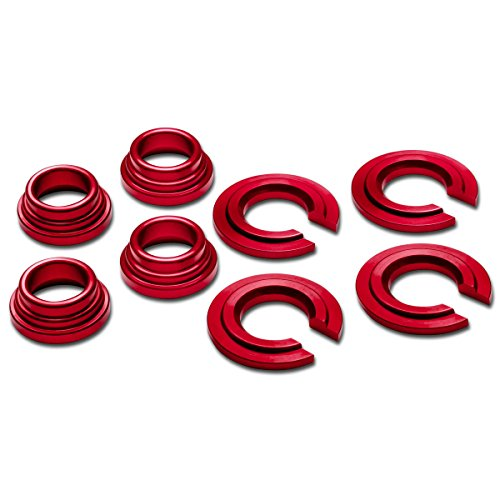 240sx Subframe Bushings (Nissan 240SX/300ZX/Maxima Aluminum Subframe Tie Bar Bushing Collar Spacer Kit (Red) - S13 S14 Z32 J30)