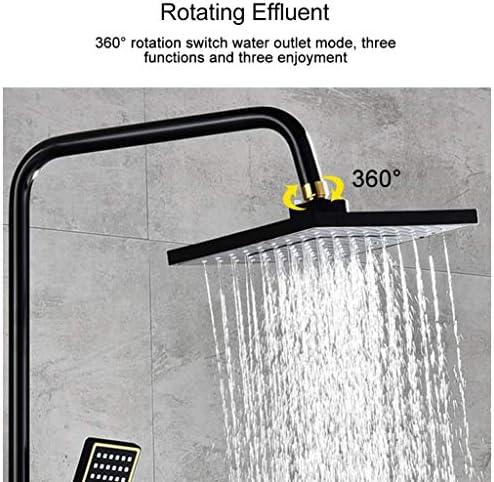 スプリンクラーシステムをシャワーで壁シャワー蛇口セットシャワーシャワー銅ブラックゴールドボタンシャワー多機能4速ビデスプレーガンのシャワーセット