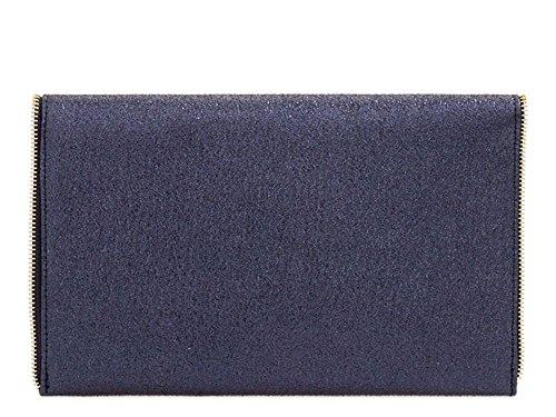Noir Enveloppe Bleu main Sac Marine pour Plat DIVA haute Medium Femmes à YUqf8WwA