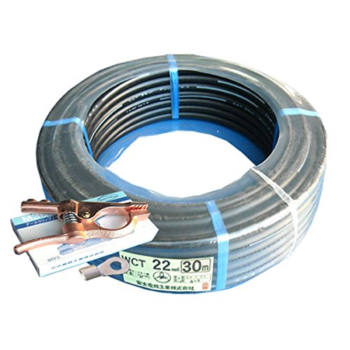 富士電線 70000-591 溶接用WCT 22SQ アース線(端子) 30m 製作セット  B01M1S32AB