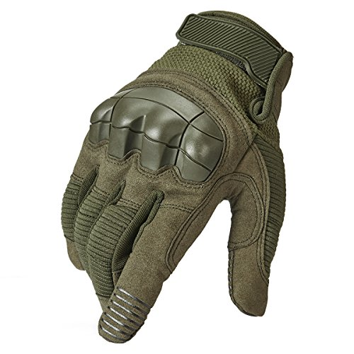 ReFire Gear Army Combat Tactical Gloves Rubber Hard Knuckle Protective Full Finger Outdoor Motorcycle Riding Airsoft Gloves