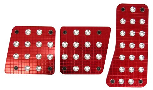 Custom Accessories 16005 Red Billet Manual Pedal Pad