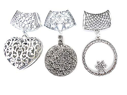Fashion Metal Heart Ring (Wholesale Wholesale 3 Style Metal Alloy Vintage Scarf Pendants Pacakge Sold 6pcs Delivery In 3 To 5 Days)