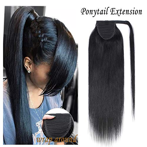 Around Ponytail Extensions Hairpiece Straight
