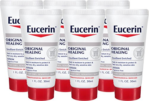 (Eucerin Original Healing Soothing Repair Rich Lotion Fragrance Free Dry Skin 1 Oz Travel Size (Pack of)