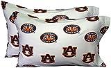 Auburn University Tigers Set of 2 Cotton Pillowcase Covers