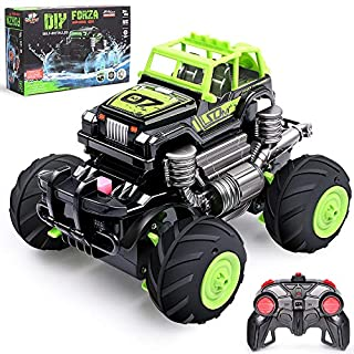 Remote Control Car, 1:16 High Speed Racing Trucks , 2.4Ghz 4WD Off Road Rock Monster Crawler RC Cars Electric Hobby Toy with 2 Replaceable Car Shell Perfect for Boys Girls Adults
