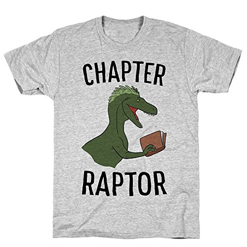 - LookHUMAN Chapter Raptor Large Athletic Gray Men's Cotton Tee