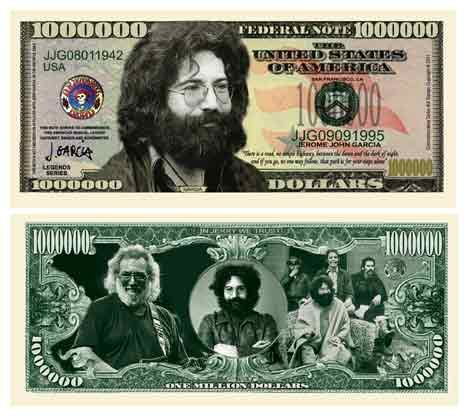 American Art Classics Pack of 100 - Jerry Garcia Grateful Dead Million Dollar Bill - Best Gift Or Keepsake for Fans of The Grateful Dead