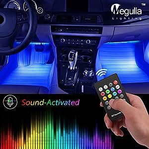 underdash lighting kit megulla usb powered rgb multi color led car interior lights. Black Bedroom Furniture Sets. Home Design Ideas